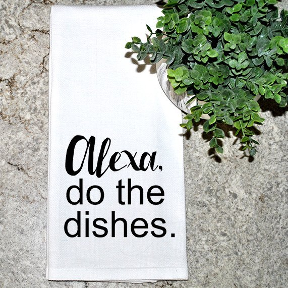 Alexa do the dishes dish towel